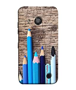 PrintVisa Designer Back Case Cover for Microsoft Lumia 550 (Background Children Colorful Design Supplies Colored Beautiful Drawing)