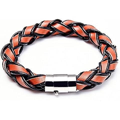 Iconic Da donna in pelle corda braccialetto tribale bracciale intrecciato