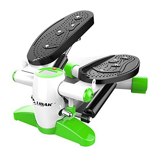 XXSS Sportausrüstung, kleine Pedal-Maschine mit Kalorienverbrauchs-Zähler-Multifunktionsgewicht-Verlust-Ausgangsstummer-Eignungs-Ausrüstung Rot/Grün-Bergsteigen-Pedal-Maschine (Color : Green)