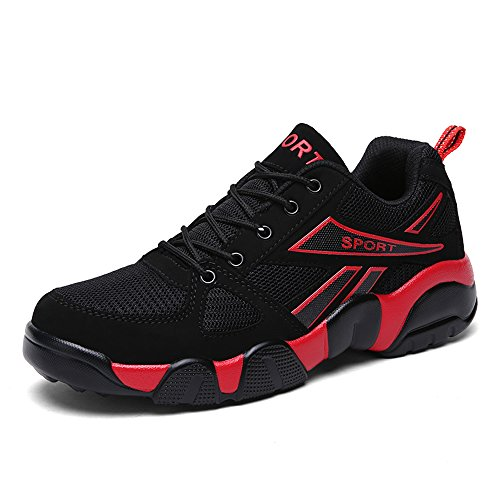 Speedeve Hommes Baskets Chaussures Femmes Chaussures De Course Grande Taille Rouge