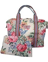 Cath Kidston–Bolso de la compra plegable Bloomsbury ramo crema