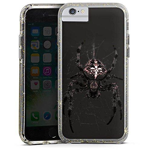 Apple iPhone 8 Bumper Hülle Bumper Case Glitzer Hülle Araneus Spinne Spider Bumper Case Glitzer gold