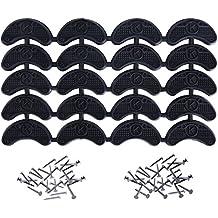 Placas de Talón Tapas de Tacones Reparación de Zapatos Reemplazo de Almohadilla con Clavos, 10