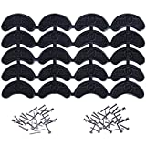 Mudder Heel Plates Shoe Heel Taps Tips Sole Heel Repair Pad Replacement with Nails, 10 Pairs, Black