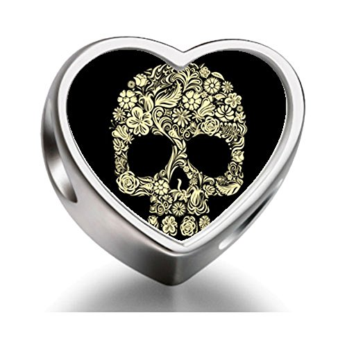 keleton clip art Heart Photo Charm Beads (Halloween Skeleton Clip Art)