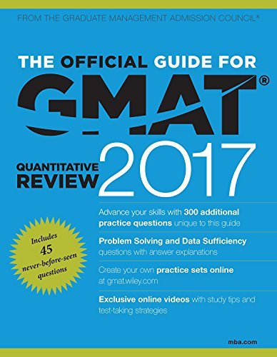 The Official Guide for GMAT Quantitative Review 2017 with Online Question Bank and Exclusive Video by JOHN WILEY & SONS (2016-01-24)