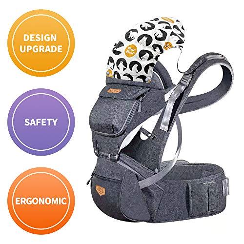 JooBebe Ergonomico Portantina per Bebè Marsupio Neonati 4 In 1 Porta Bebè Ergonomico Progettato Multiple Posizioni Traspirante Sicuro e Comodo