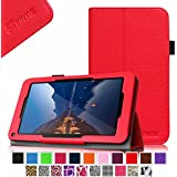 "Fintie Folio Premium Vegan Leather Case Stand Cover for Upgraded Time2 7 Inch Android Tablet 2015, Time2Touch GC750C 7"" Quadcore Android Lollipop Tablet, Time2Touch SC744B 7"" Dual Core Android Kitkat Tablet, BTC Flame 7 Inch UK ATM7059 A9 Android Tablet, 2015 SATUS 7 Inch Android Tablet, Trimeo 7 Inch Windows 8.1 Tablet, LENOTAB 7 Inch Windows Tablet - Red"