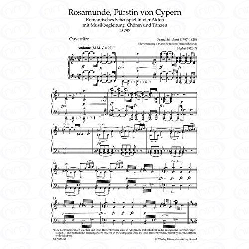 Rosamunde Fuerstin von Cypern D 797 - arrangiert für Klavierauszug [Noten/Sheetmusic] Komponist : Schubert Franz