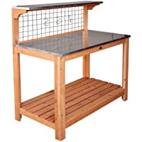 HABAU 695-FSC Garden Table with Zinc-Plated Working Surface