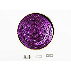 'Power Cadena de bicicleta Gusset anodizado 1/8púrpura