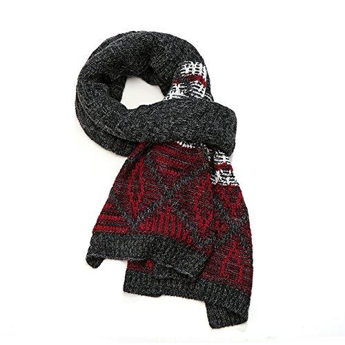 Automne et écharpes hiver hommes/Étudiant jeunesse épaissie laine chaude écharpe/amants écharpe autour de portefeuille C
