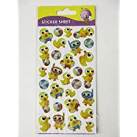 Purple peach sticker sheet - ducks