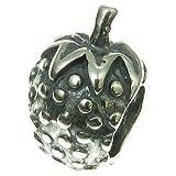 Antik 925Sterling Silber Erdbeere Bead für europäische Charm-Armbänder
