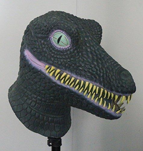 n TM 619219291415Tyrannosaurus Dinosaurier Full Head Latex Maske Fancy Kleid T Rex Halloween-Kostüm Zubehör, Unisex, ONE SIZE (Dinosaurier Halloween Kostüme Für Erwachsene)