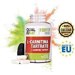 L-Carnitina para potenciar el rendimiento deportivo - Suplemento alimenticio de carnitina con función quemagrasas y de antioxidante natural para ayudar a perder peso realizando deporte - 90 cápsulas