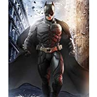 Leezeshaw 5D DIY Diamond Painting by Number Kits Fameless Rhinestone Embroidery Paintings Pictures for Home Decor - Batman 40x50cm