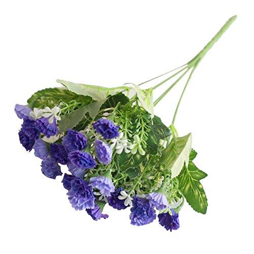 Ingrirt5Dulles 1 Bouquet 25 Heads Flieder Künstliche Blume Pflanze Hochzeit Mittelstücke Home Decor Lila (Hochzeit Mittelstücke Lila Für)