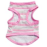 Ouneed® Hundbekleidung , Neu Gravitationswellen Baumwoll Jersey Vest Hundekleidung rosa (M)