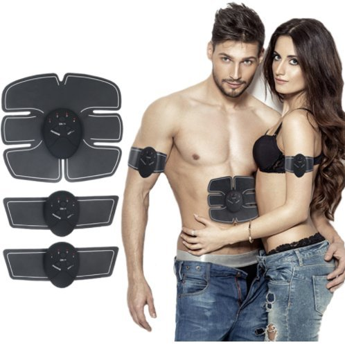 Abs Trainer EMS Stimulator Portable Home Gym Fitness Workout Abdominal Muscle Toner for Men & Women Massage Toning Belt for Abdomen/Arm/Leg Training