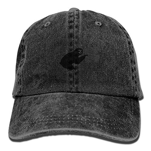 CHSUNHEY Cotton Scarf Black Sloth Washed Women & Men Adjustable Baseball Cap Hat Dad For Tourism, Hiking, Fishing, Mountain, Indoor / Outdoor