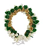 New Style Rose Flowers Accessories Gajra (veni) For Party Wear, Green