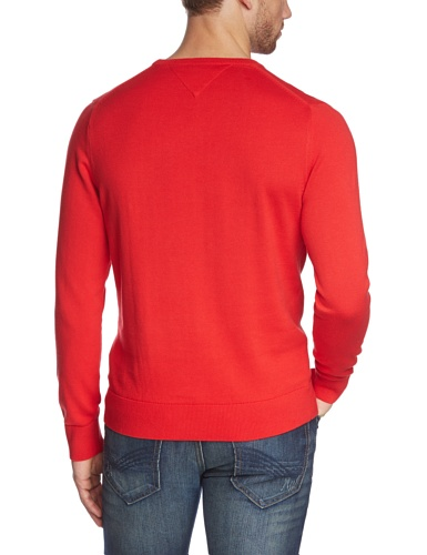 Tommy Hilfiger Herren Pullover PACIFIC C-NK CF Rot (FORMULA ONE-PT 645)