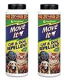 PestShield Move It Lot de 2répulsifs à chats et chiens pour jardin Non toxiques,...