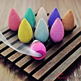 #6: eCraftIndia Pack of 30 Backflow Incense Cones in Rose, Jasmine and Lavender Scent for Backflow Incense Burners