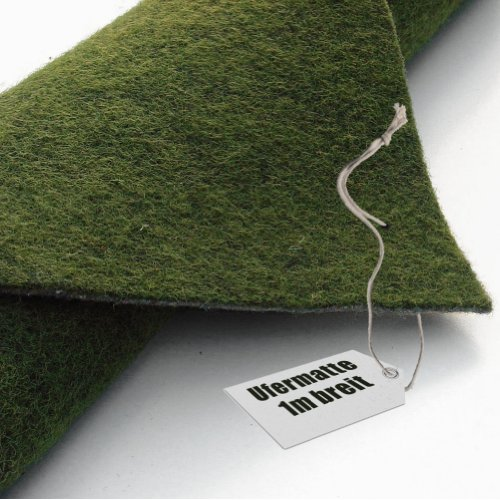 Ufermatte grün 100cm breit - 10m lang