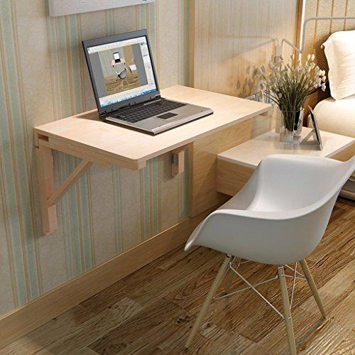 Table pliante LXF Table de Salle à Manger Pliante en Bois Massif Contre Le Mur Bureau d'ordinateur Table d'apprentissage Pliable Table de Fer Pliable (Taille : 80 * 40cm)