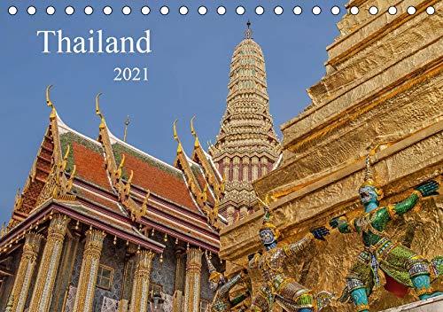 Thailand (Tischkalender 2021 DIN A5 quer): Buddhistische Tempel in Thailand (Monatskalender, 14 Seiten ) (CALVENDO Orte)