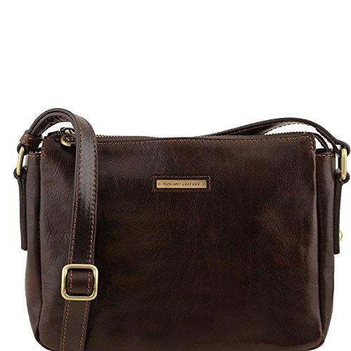 Tuscany Leather Michela - Tracollina in pelle - TL141476 (Miele) Testa di Moro