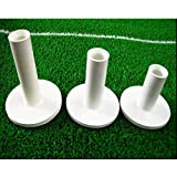 le caoutchouc tees de golf, de couleur blanche, 3 pc emballés (75 mm, 65 mm et 54 mm).Rubber Golf Tees, White Color, 3 PCS Packed(75 mm, 65 mm and 54 mm)