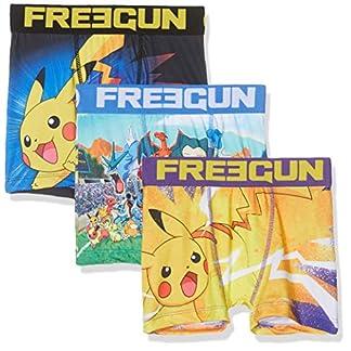FREEGUN Boxer Pokemon Pantis (Pack de 3) para Niños