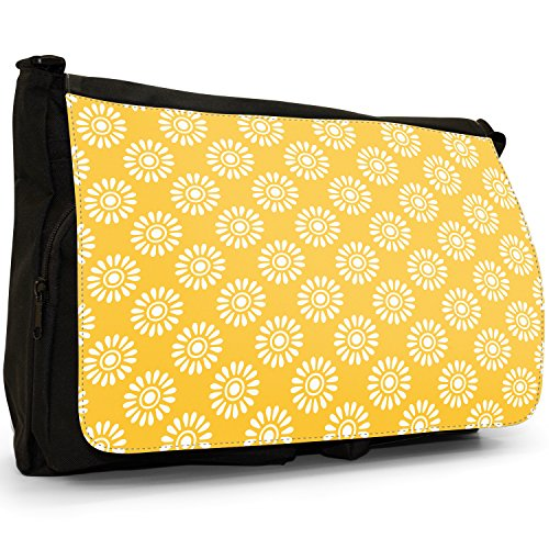 Fancy A Snuggle, Borsa a spalla donna Large White Flower Pattern