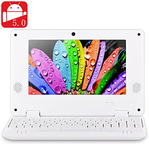 NEW 2016 7 inch 789 PC MID Android 5.0 Notebook WM8880 Dual Core 1.5GHz WVGA Screen 8GB ROM Camera WiFi Ethernet HDMI - White