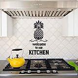 Bienvenue Dans Notre Cuisine Ananas Sticker Mural Cuisine Moderne Cuisine Décoration Murale Taille Personnalisée Étanche Bricolage Murale 33X57 Cm