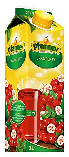 Pfanner Cranberry Getränk 20%, 12er Pack (12 x 1 l)