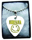 Nirvana Smiley Metal Guitar Pick Necklace Ball Chain Collier Médiator