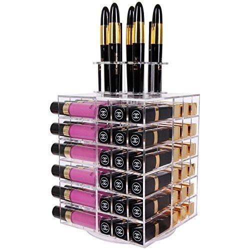 Lifewit porta rossetti organizzatore espositore cosmetici lipgloss acrilico 80 scomparti con base rotante