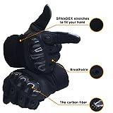 OMGAI Männer Voller Finger Militärische Taktische Handschuhe Des Harten Knöchel Mit Klettverschluss für Airsoft Armee Paintball Motorrad Outdoor Sport Schwarz XL - 3