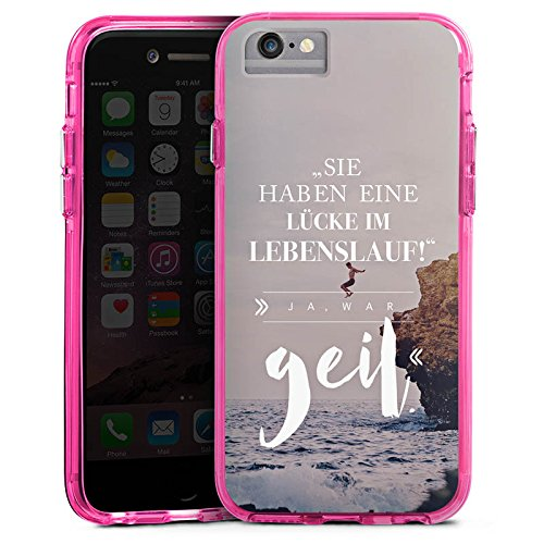Apple iPhone 8 Bumper Hülle Bumper Case Glitzer Hülle Lustiger Spruch Visual Statements Humor Bumper Case transparent pink