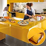#5: Smartbuyer 24*60Inch Vinyl Self Adhesive Wallpaper Roll For Furniture Bathroom Kitchen Pvc Stickers,Yellow