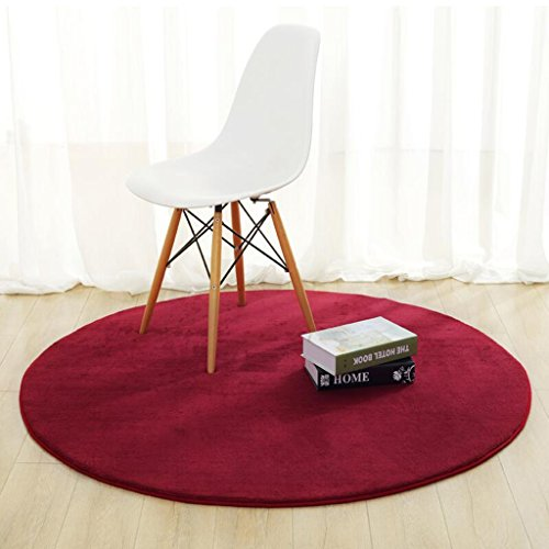 LINGZHIGAN Ronde Carpet Chambre Salon Chevet Suspendu Panier Chaise D'ordinateur Tapis De Sol Vin Rouge (Couleur : A, taille : Diameter 140 cm)