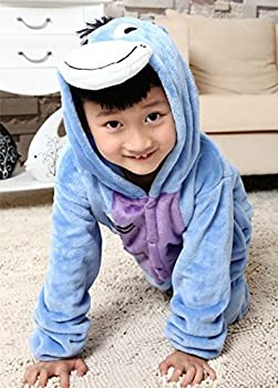 Udreamtime Kids Homewear Sleepsuit Animal Pajamas Halloween Cosplay Costume Donkey L 3