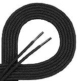 Lacets corde Di Ficchiano-rond-Ø 3mm-4mm - Noir - noir, 190 cm