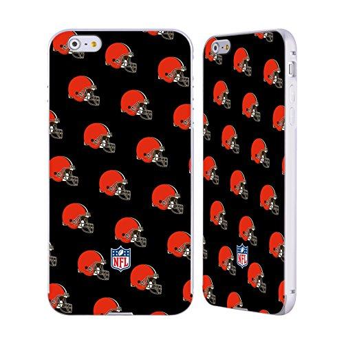 Ufficiale NFL Pattern 2017/18 Cleveland Browns Argento Cover Contorno con Bumper in Alluminio per Apple iPhone 6 Plus / 6s Plus Pattern