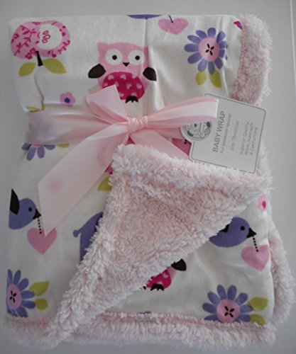 belle-doux-couverture-pour-bebe-rose-75-x-100cm-avec-les-animaux-et-sherpa-fourrure