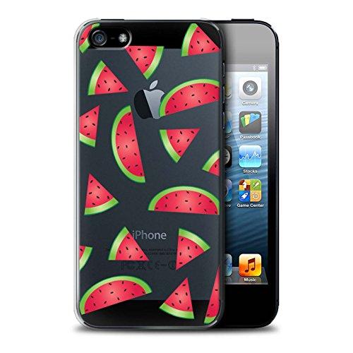 Stuff4 Hülle / Case für Apple iPhone 5/5S / Pizza Muster / Stück Lebensmittel Kollektion Wassermelone